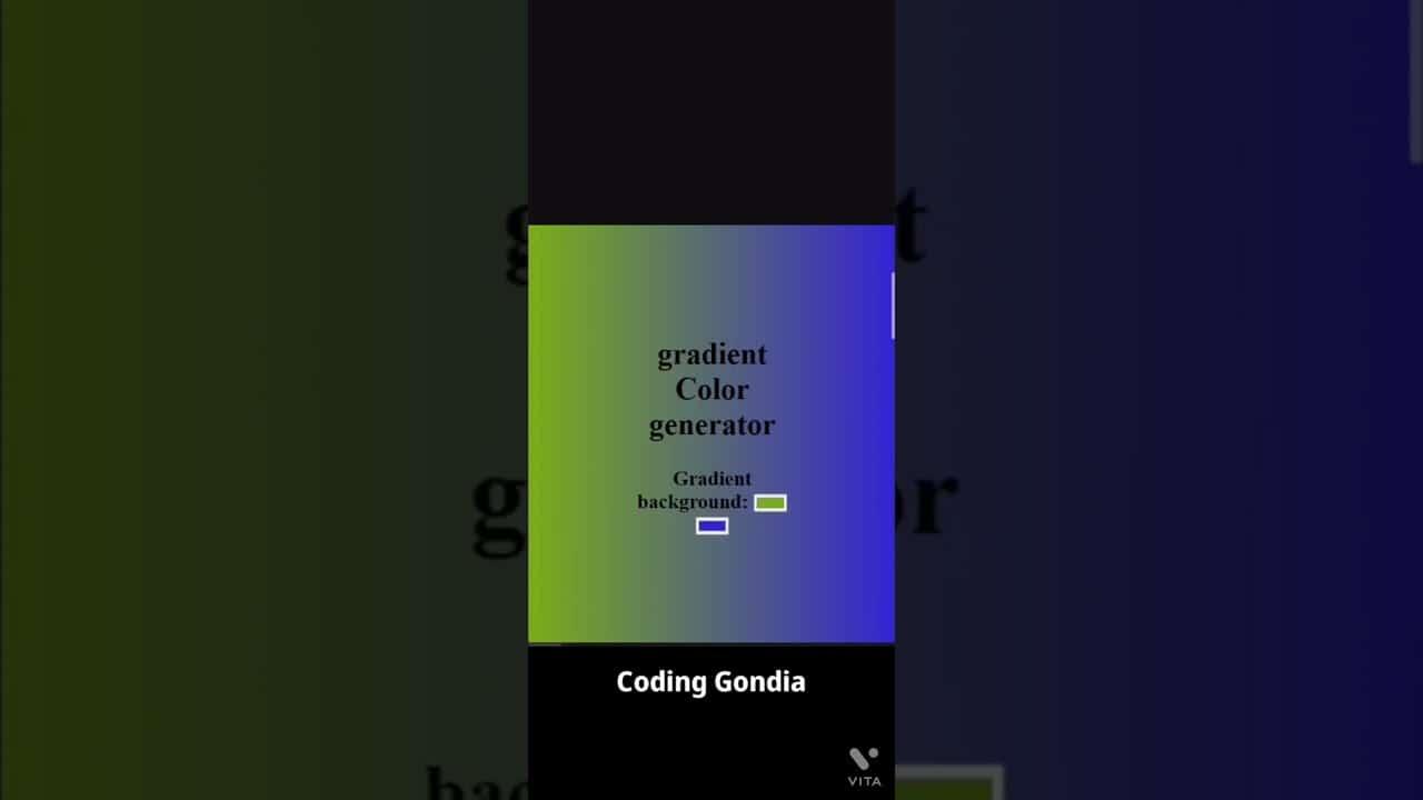 Gradient Color Generator #shorts