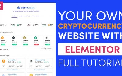 Do It Yourself – Tutorials – How to Create a Cryptocurrency Website with WordPress and Elementor Full Tutorial