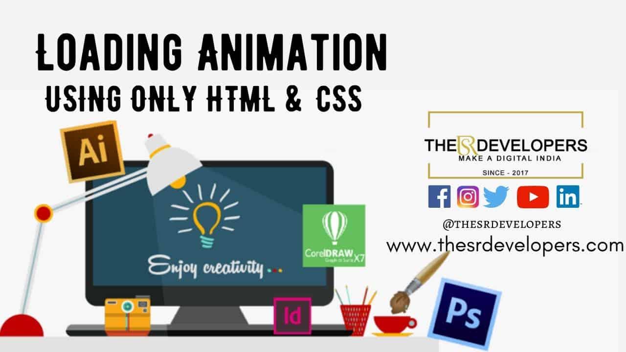 Loading Animation Using Only HTML & CSS#thesrdevelopers #webdesign #loadinganimation