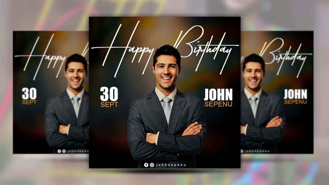 How to design your own HAPPY BIRTHDAY Flyers   Photoshop Flyer Tutorial For Beginners