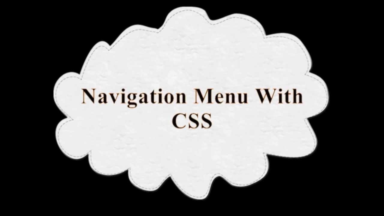 BlogyTricks: Navigation Menu With CSS