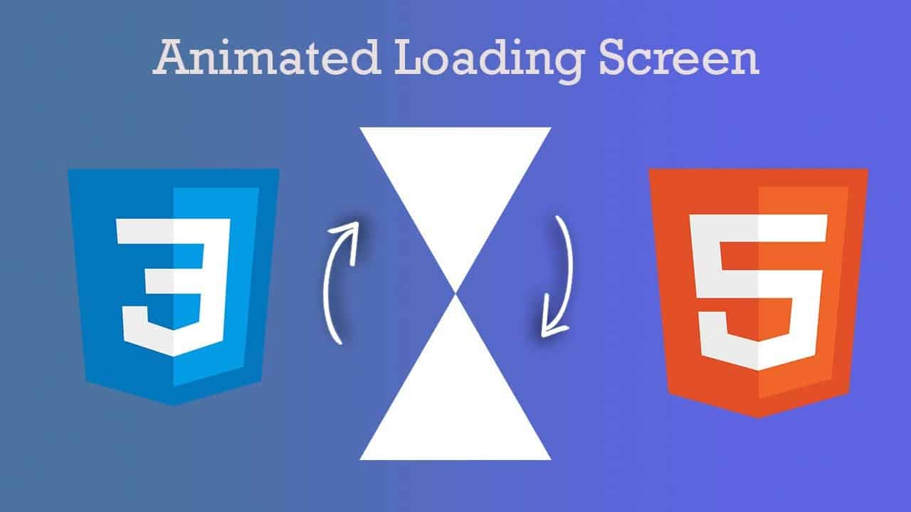 Animated loading page for website tutorial | HTML CSS
