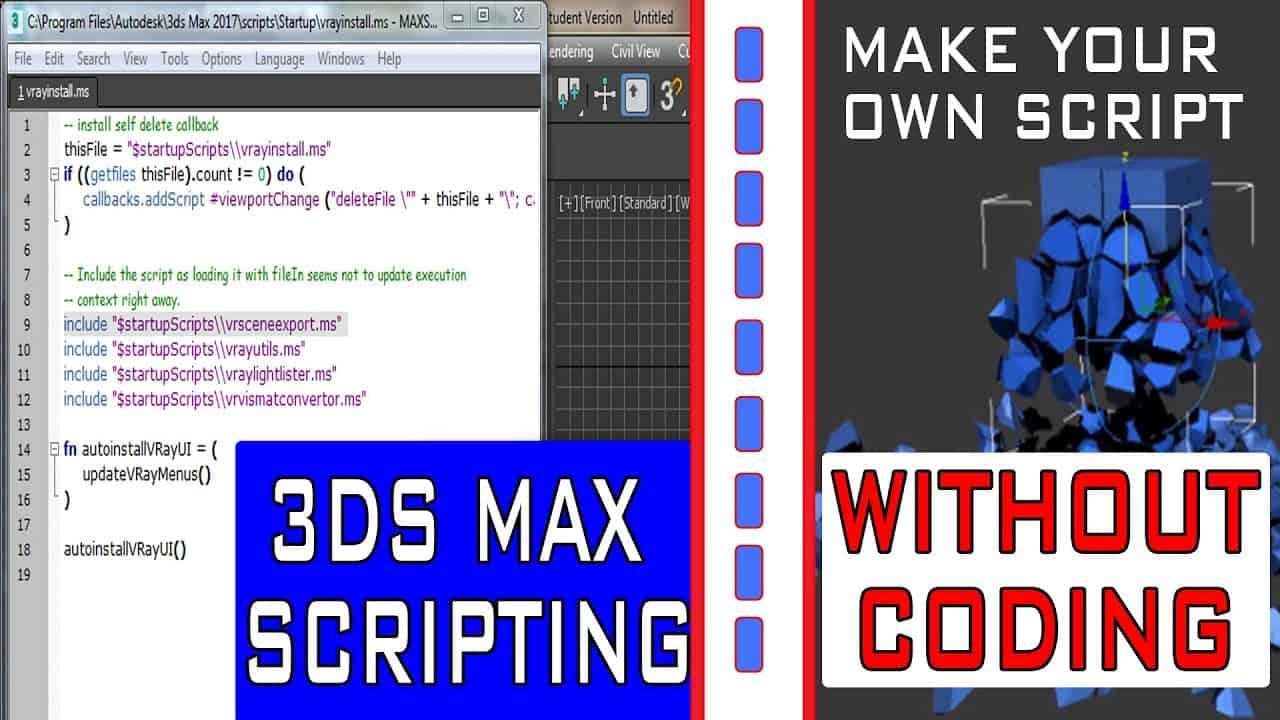 3ds max Scripting || Make your Own Max Script Without Coding || Insert,Run,Modify Script ||