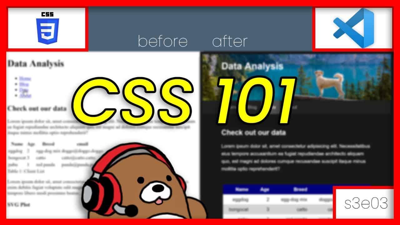 CSS 101; How to create a dark-theme website; VS Code | Tutorial 3/13 | Julia Web Tools for Beginners