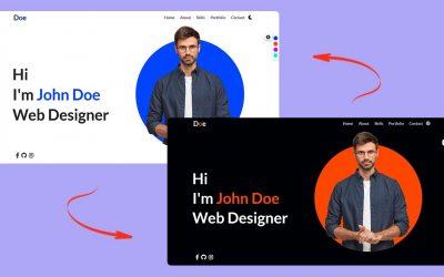 Do It Yourself – Tutorials – Create Responsive Personal Portfolio Website using HTML CSS and JavaScript 2021   Tutorial