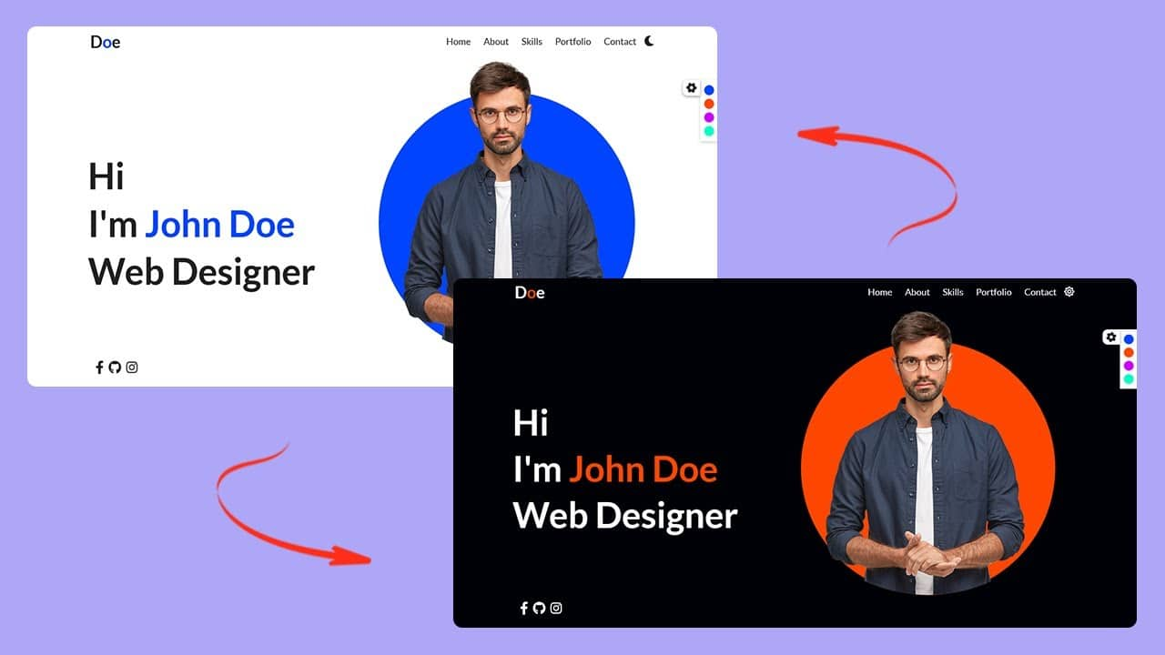 Create Responsive Personal Portfolio Website using HTML CSS and JavaScript 2021 | Tutorial