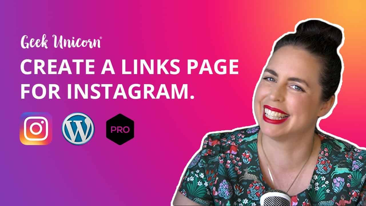 Create an Instagram links page on your website