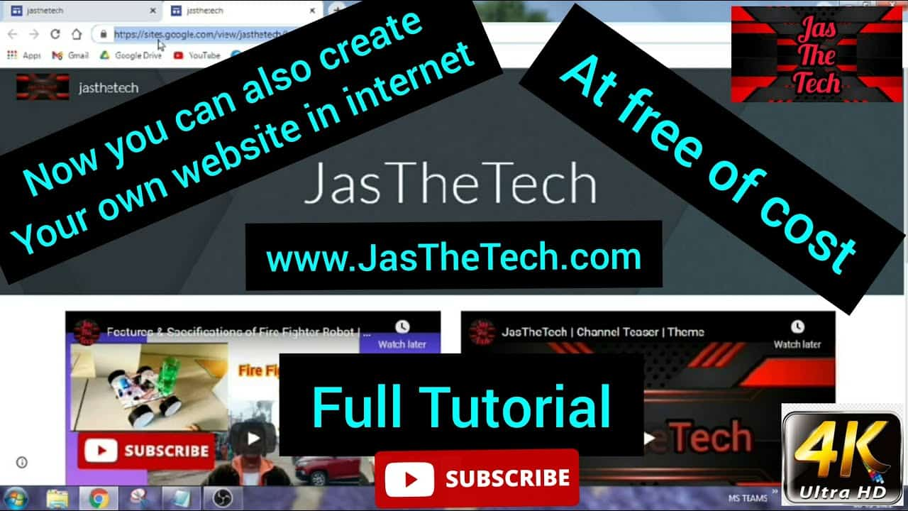Create your own website in internet   At free of cost   Tutorial