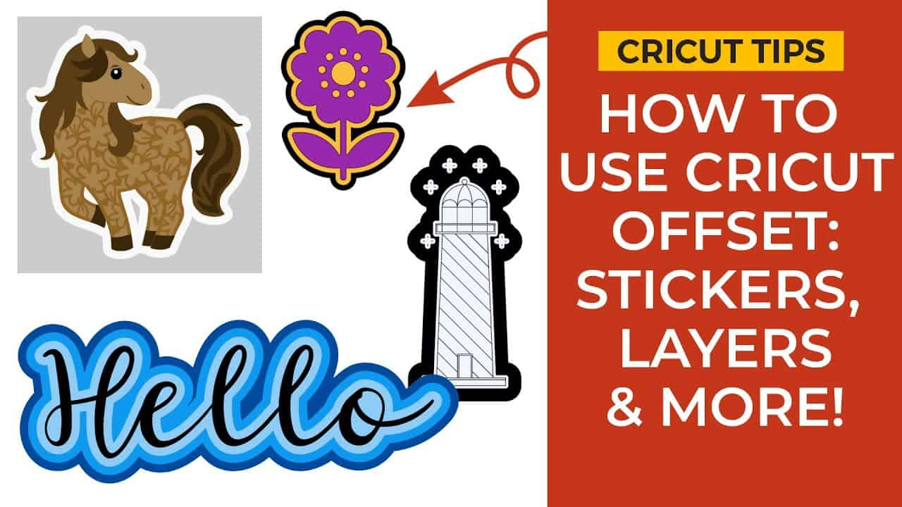 Cricut Offset Tutorial   How to Outline in Cricut Design Space