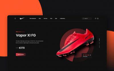 Do It Yourself – Tutorials – Designing a Nike Vapor XI FG Landing Page UI in Figma – Speed Art Tutorial