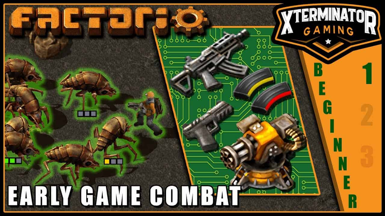 Factorio Tutorial - Early Game Combat & Turret Creep / Pushing: EP 4 Season 1