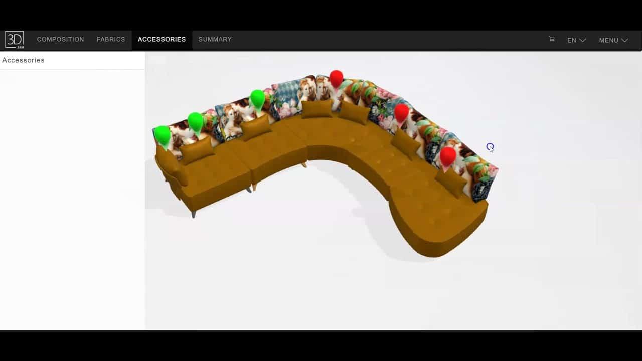 Fama simulator - Design your own sofa tutorial