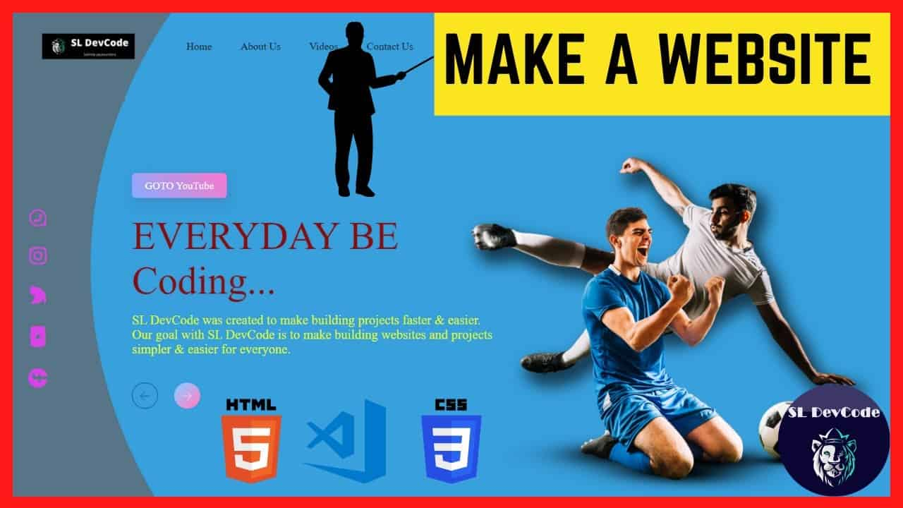 HTML Tutorials & Projects 02 - How to Create a Website Using HTML & CSS Step by Step   Source Code