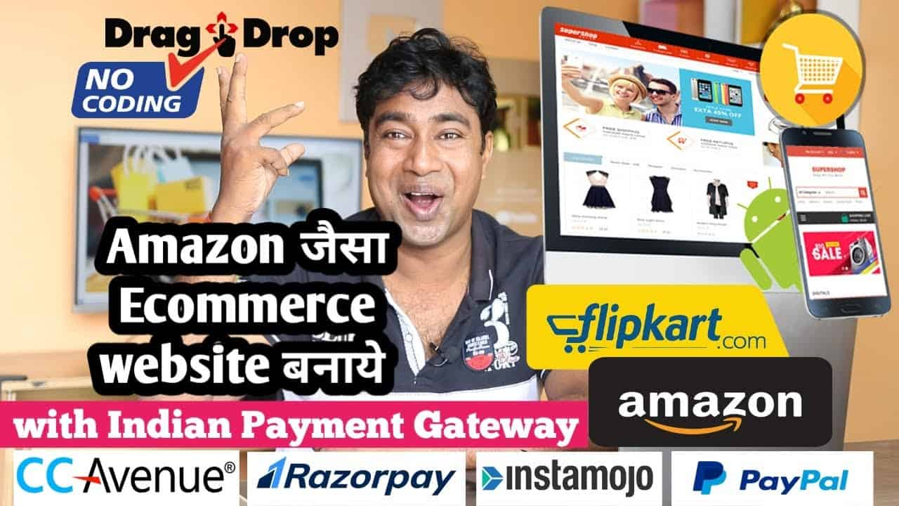 How to Create E-Commerce Website Like Amazon & Flipkart With Indian Payment Gateway Integration Demo