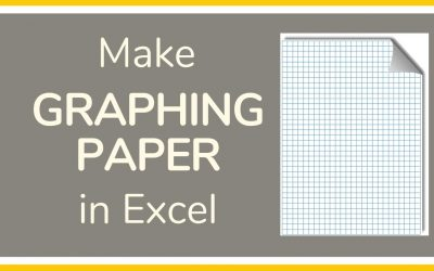 Do It Yourself – Tutorials – How to Make Graph Paper in Excel – Tutorial