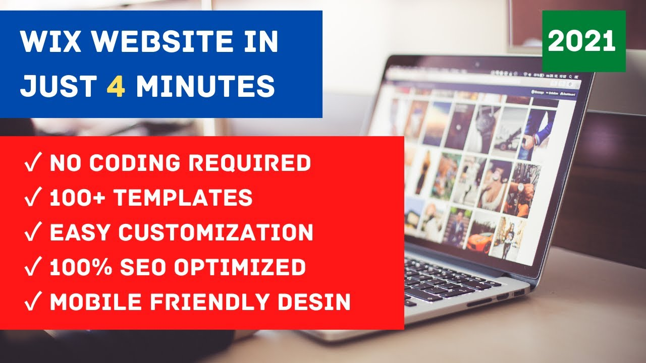 How to make WIX WEBSITE in just 4 Minutes for FREE | 2021 | HINDI, URDU