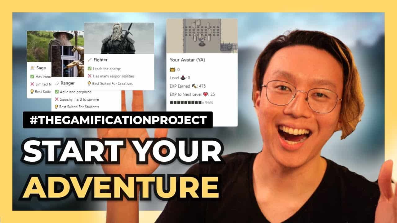 Make Work Fun By Turning Your Life Into A Game (+ FREE Notion Template)