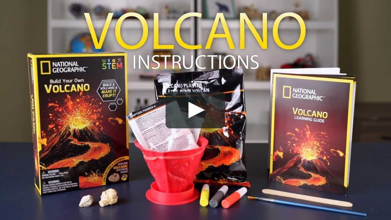 NATIONAL GEOGRAPHIC | Build Your Own Volcano (instructions)