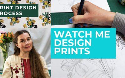 Do It Yourself – Tutorials – Print Design Process Tutorial- Watch Me Design My Own Fabric Fabric Patterns