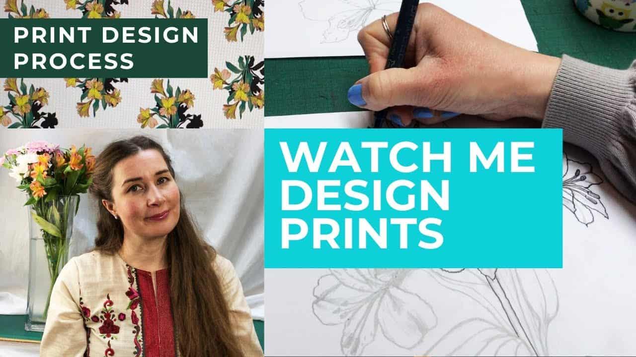 Print Design Process Tutorial- Watch Me Design My Own Fabric Fabric Patterns