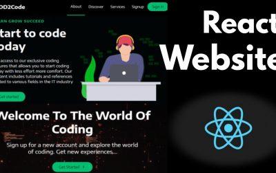Do It Yourself – Tutorials – React Website Tutorial – Build a Simple React Website   Create a Simple Website with React   React