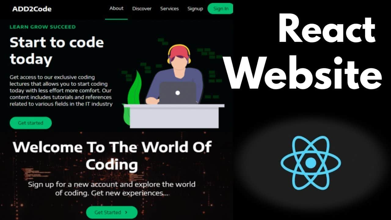 React Website Tutorial - Build a Simple React Website | Create a Simple Website with React | React