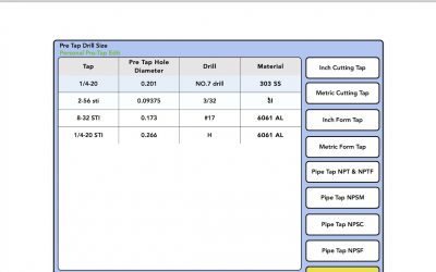 Do It Yourself – Tutorials – TAP DRILL DATABASE!! Save your tapping info and build your own database.
