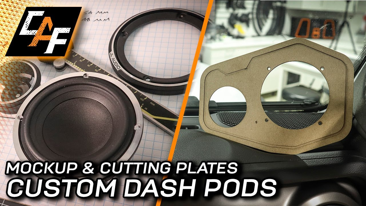 This PROBLEM made me START OVER! Custom Dash Pods - Making Acrylic Plates