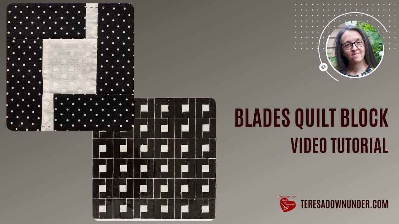 Blade quilt block video tutorial