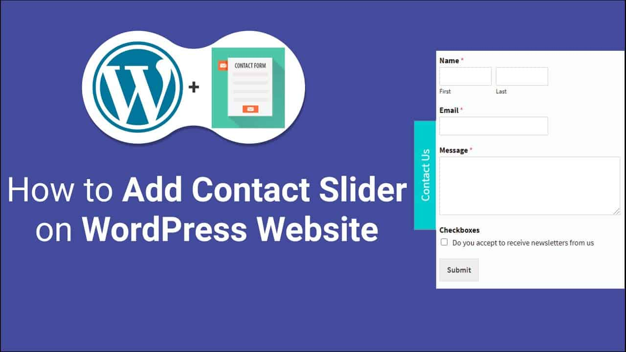 How to Add Contact Form Slider   WP Contact Slider in WordPress Website Tutorial   Sidebar Slider