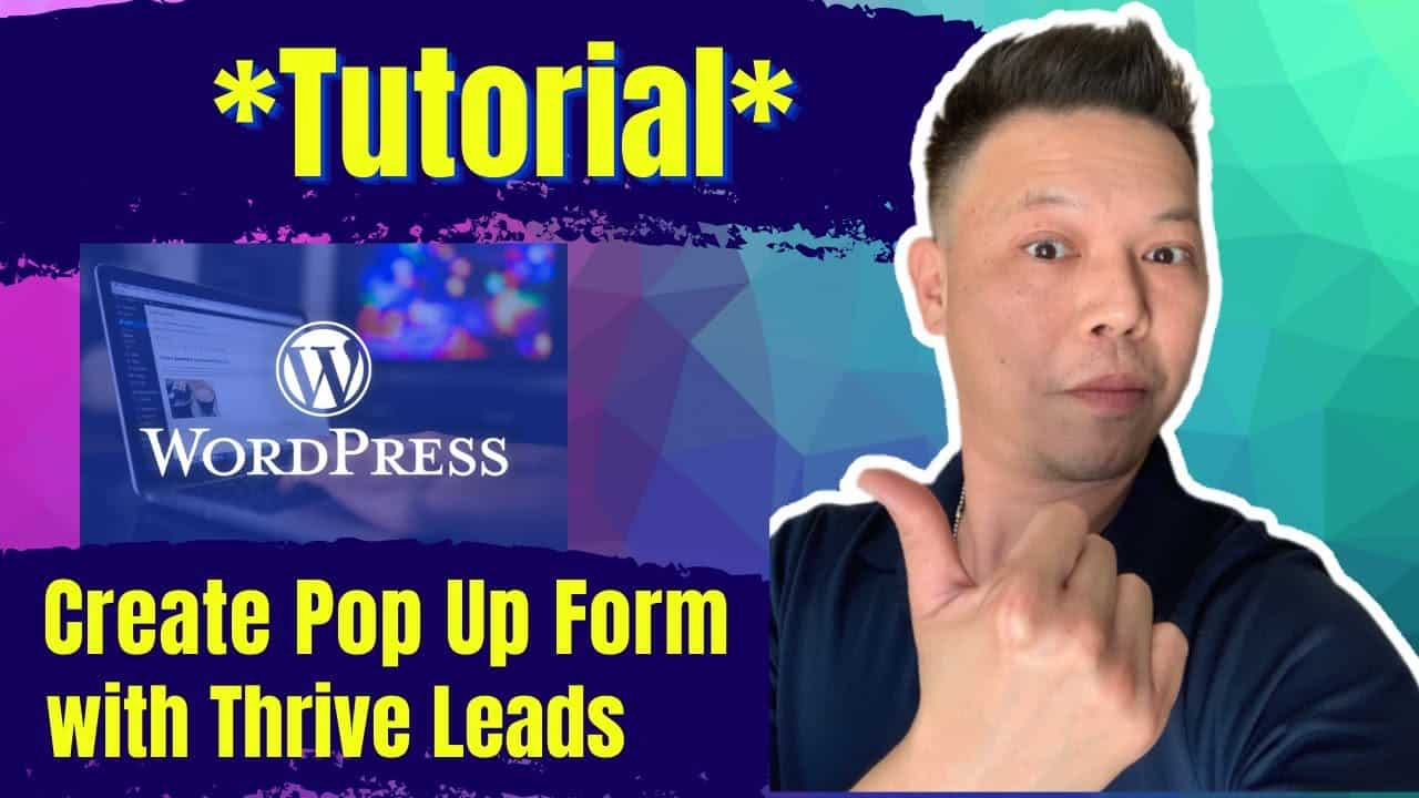 How to Add Pop Up Opt In Form with Thrive Leads - Step By Step Wordpress Tutorial