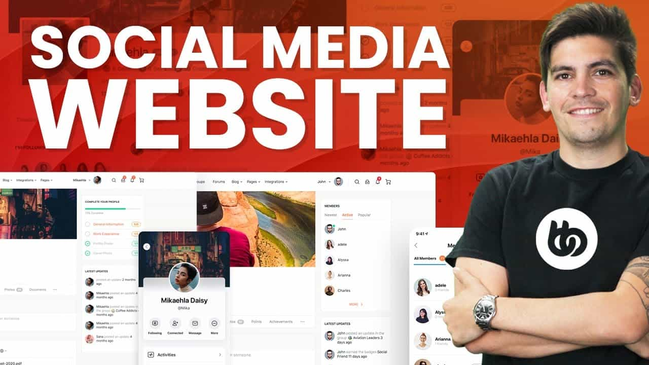 How to Create A Social Media & Community Website with WordPress & Buddyboss 2021 (Like FaceBook)