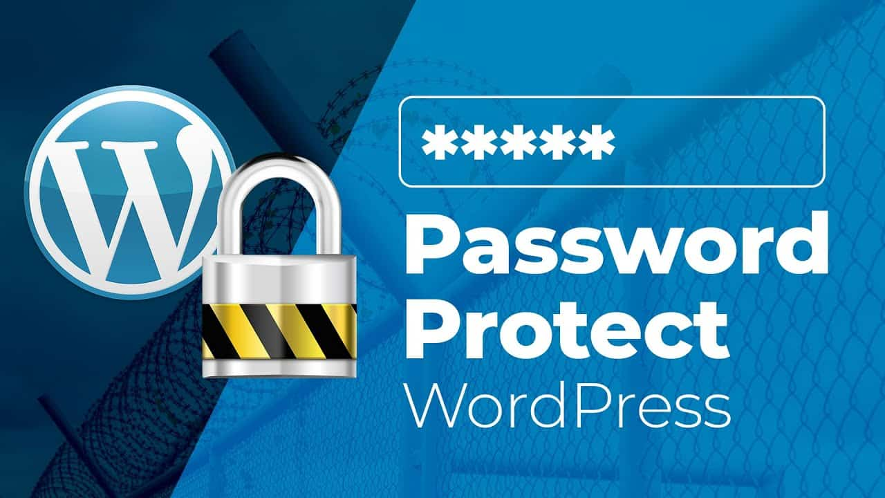 How to Password Protect a Wordpress Site, Categories & Posts/Pages