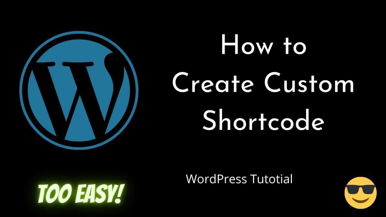 How to create custom ShortCode   WordPress   Beginners Tutorial   Tutorial - 23