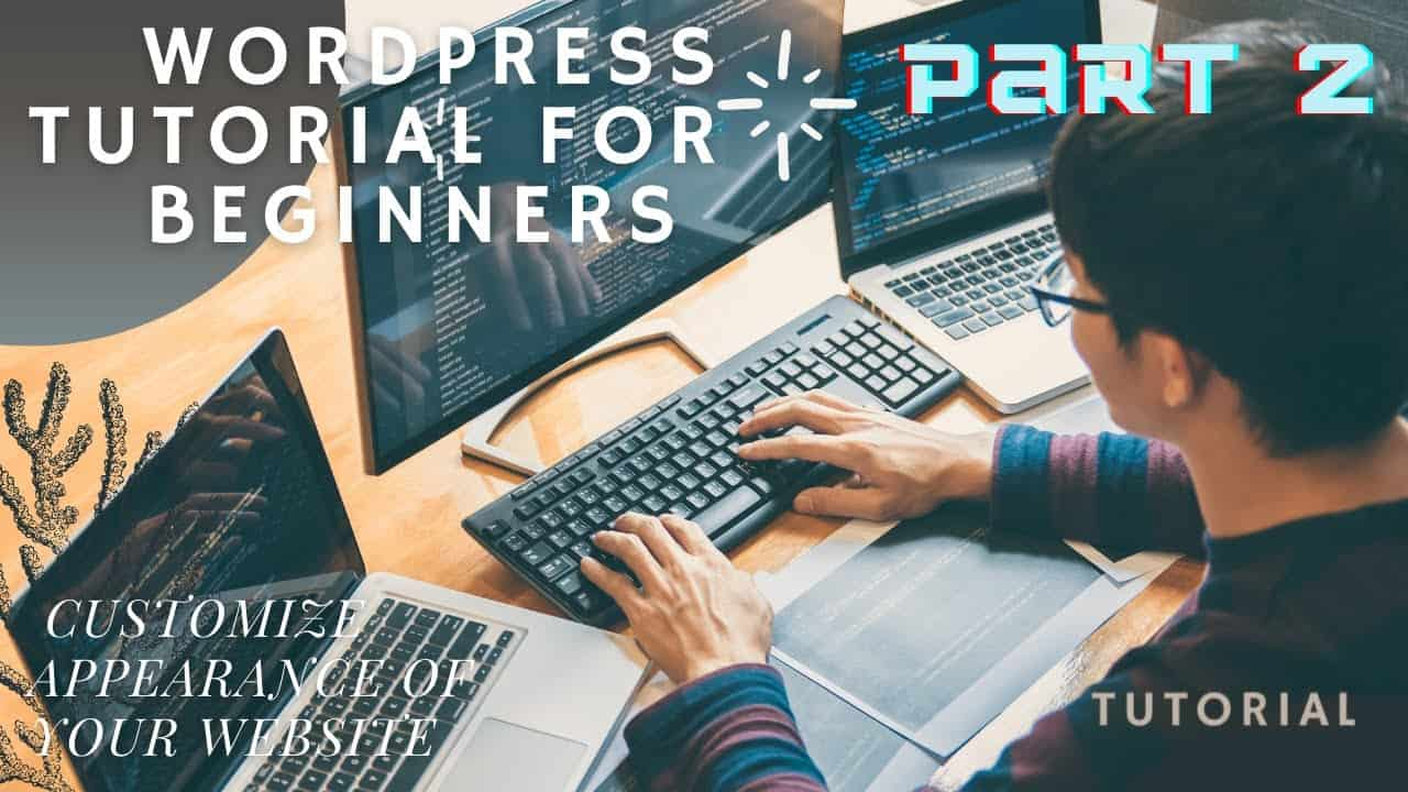 Wordpress tutorial for beginners - Customize Appearance Of Your Website (Part 2)