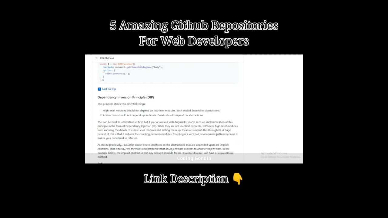 5 Amazing GitHub Repositories for Web Developers   #shorts