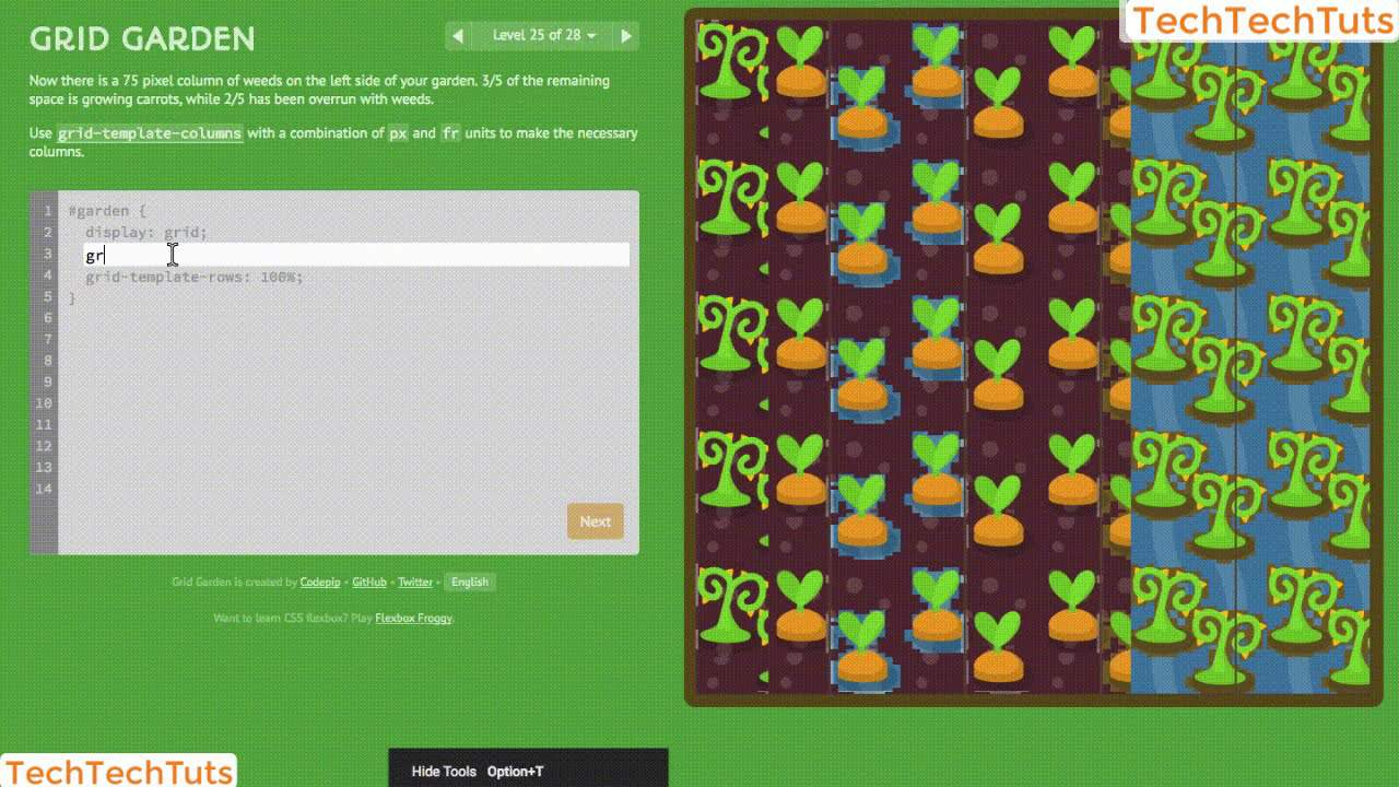 Grid CSS Garden All Levels Completed | Learn Grid CSS in 6 minutes | TechTechTus