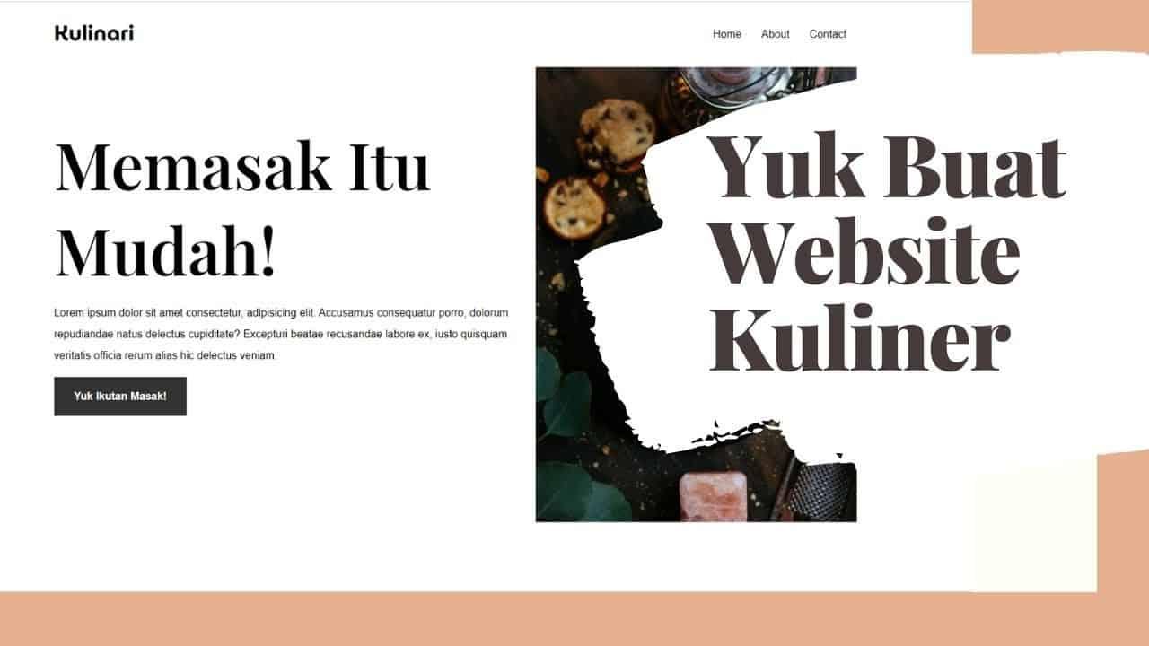 Membuat Website Kuliner Dengan HTML dan CSS