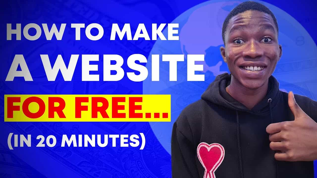 How To Make A Website For Free In 20 Minutes (FULL TUTORIAL)