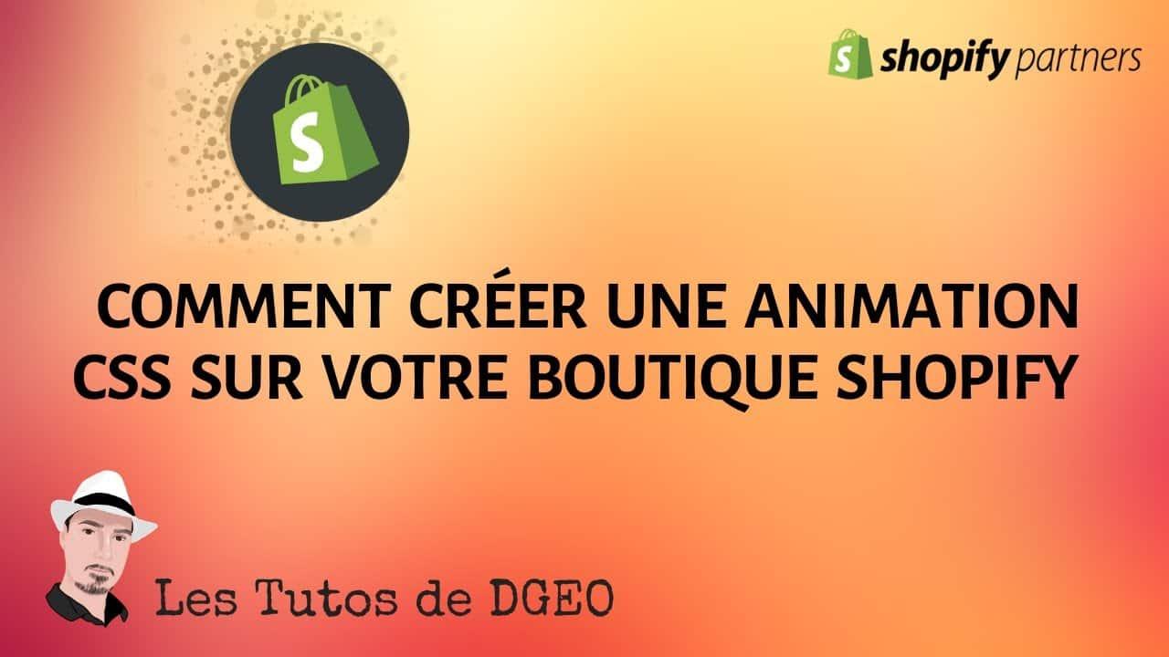 Comment Créer une Animation CSS sur Shopify / SPEED ECOM