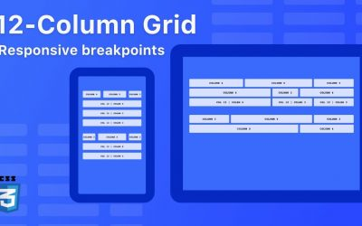 12-column grid with CSS Grid – Mobile first – Responsive Breakpoints