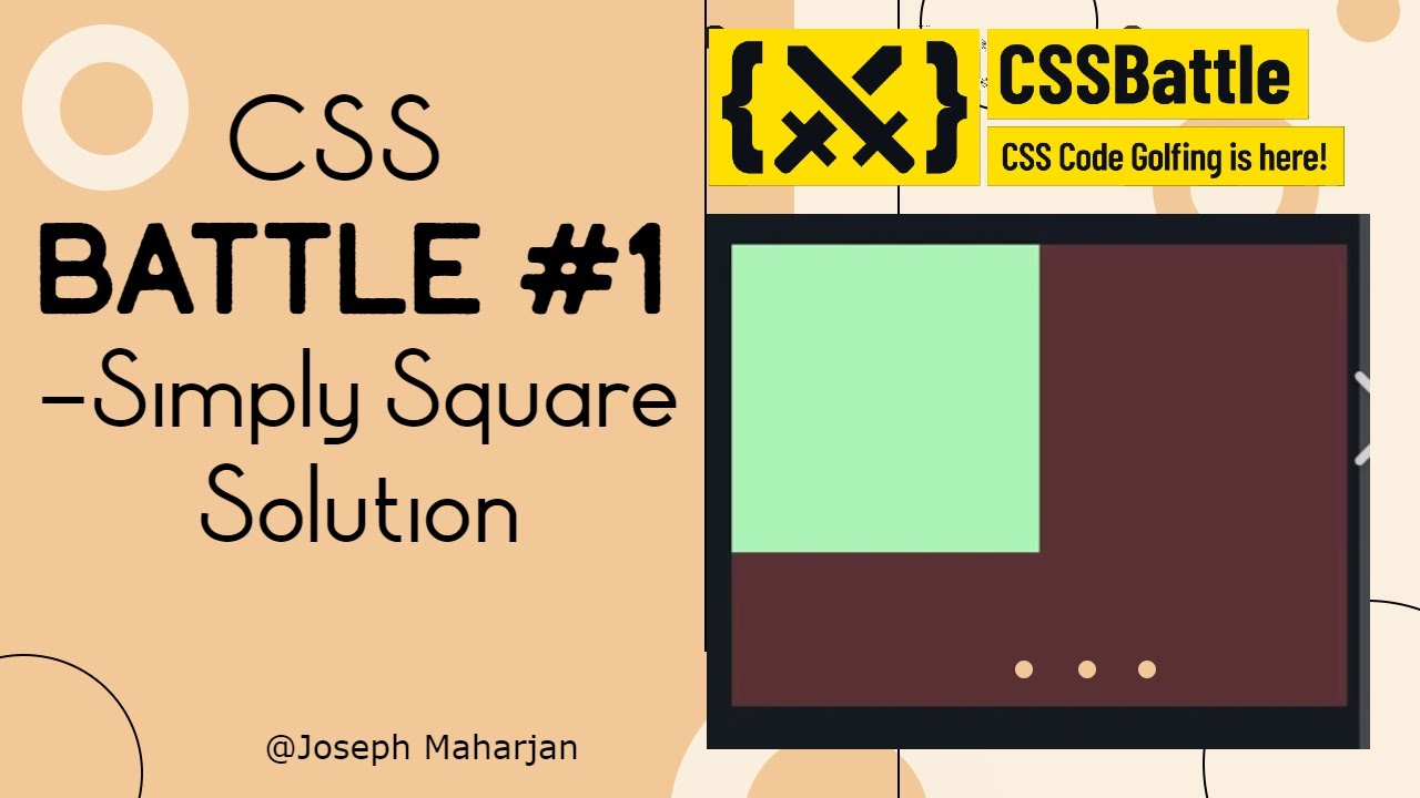 CSS Battle #1 - Simply Square || #CssbattleSolution