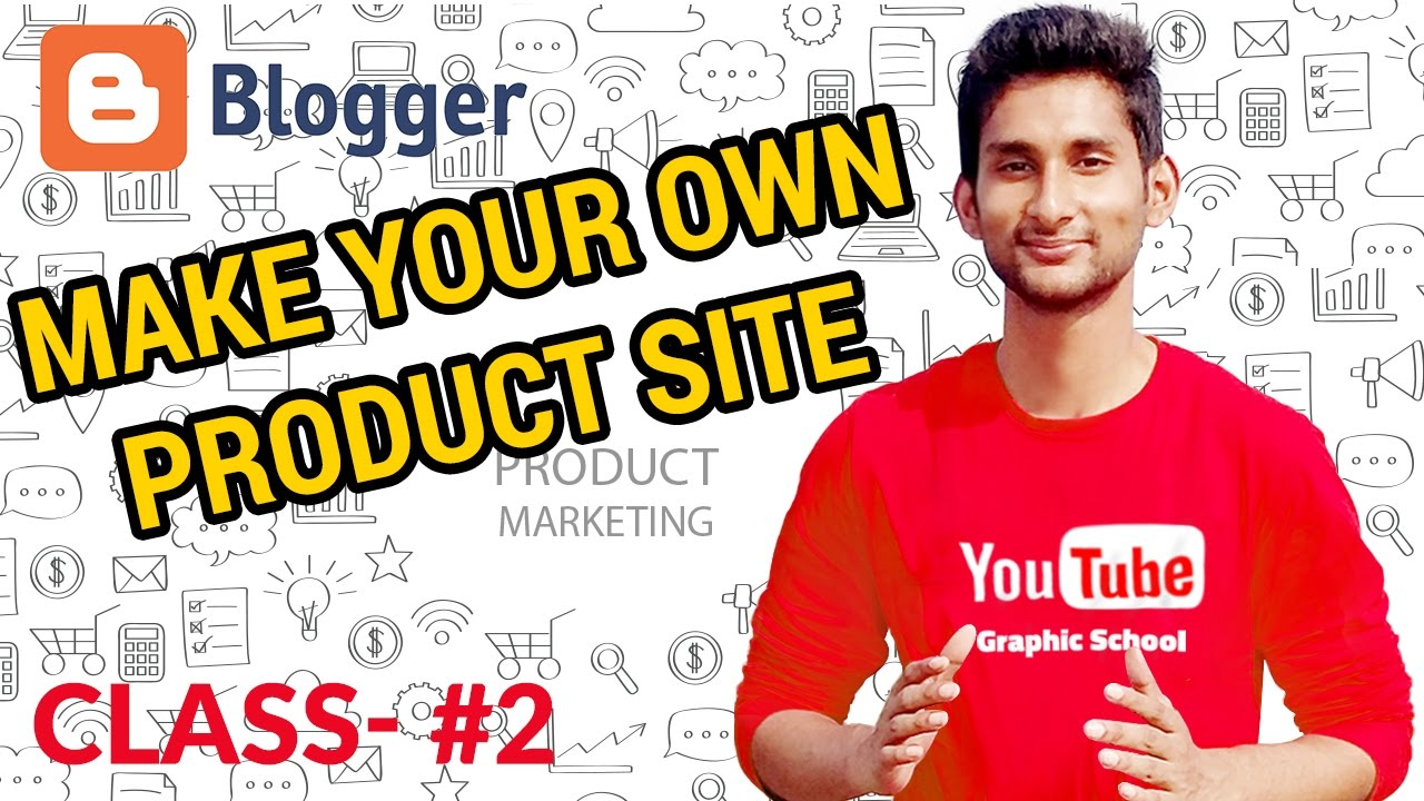 How to Create a Blog | Make Your Own Product/Portfolio Website - Graphic Product Marketing Class #2