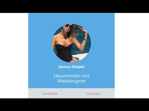 Simple Webseite / Web-Visitenkarte | HTML, CSS für Anfänger