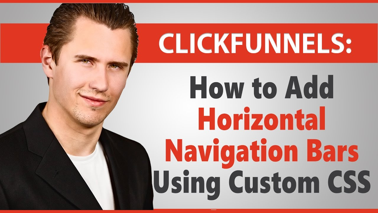 ClickFunnels: How to Add Horizontal Navigation Bars Using Custom CSS (Can Copy & Paste My Code)