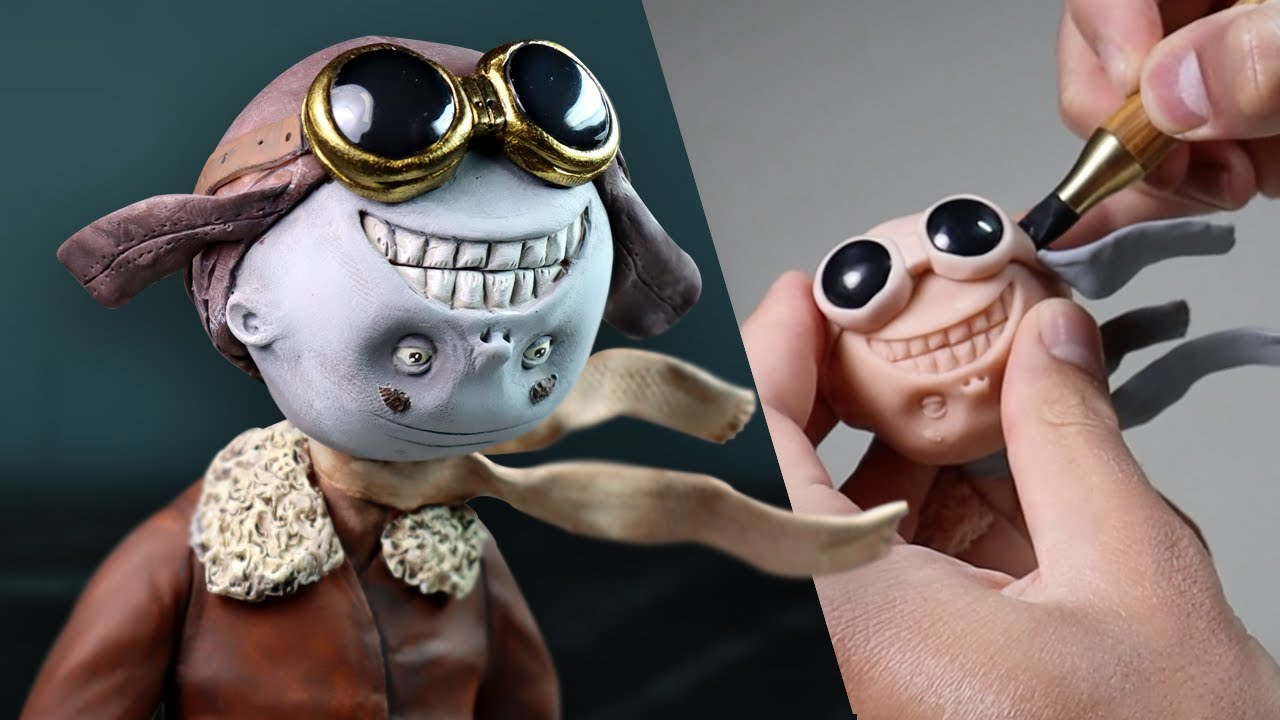 Making Up My Own HERO Character III - Meet Mr. Smile from The Mutant Universe Polymer Clay Sculpture