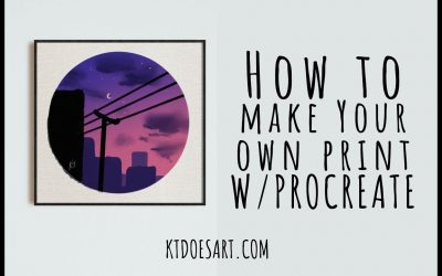 Do It Yourself – Tutorials – How to make your own print with procreate | City Sky Timelapse | Artist Blogger