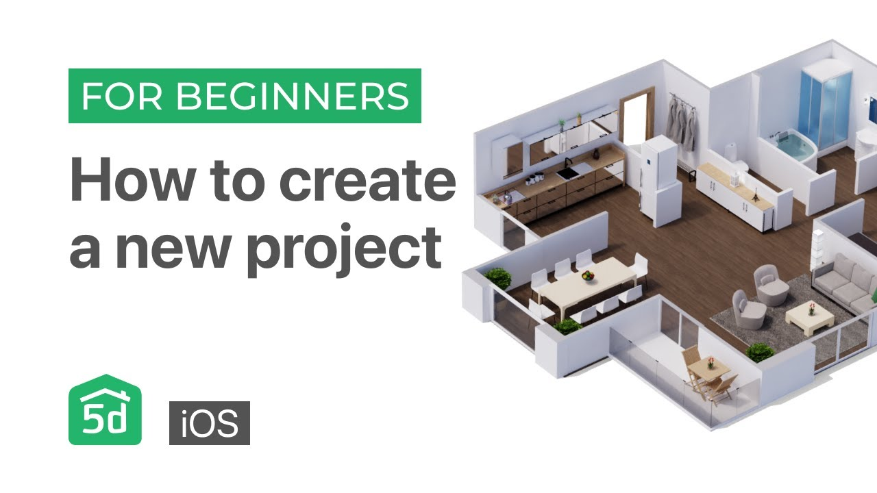 How to create a new project on the iOS | Mobile and Tablet | Planner 5d tutorial for beginners iOS