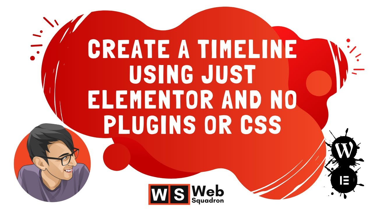 Create a Timeline using just Elementor and no Plugins or CSS