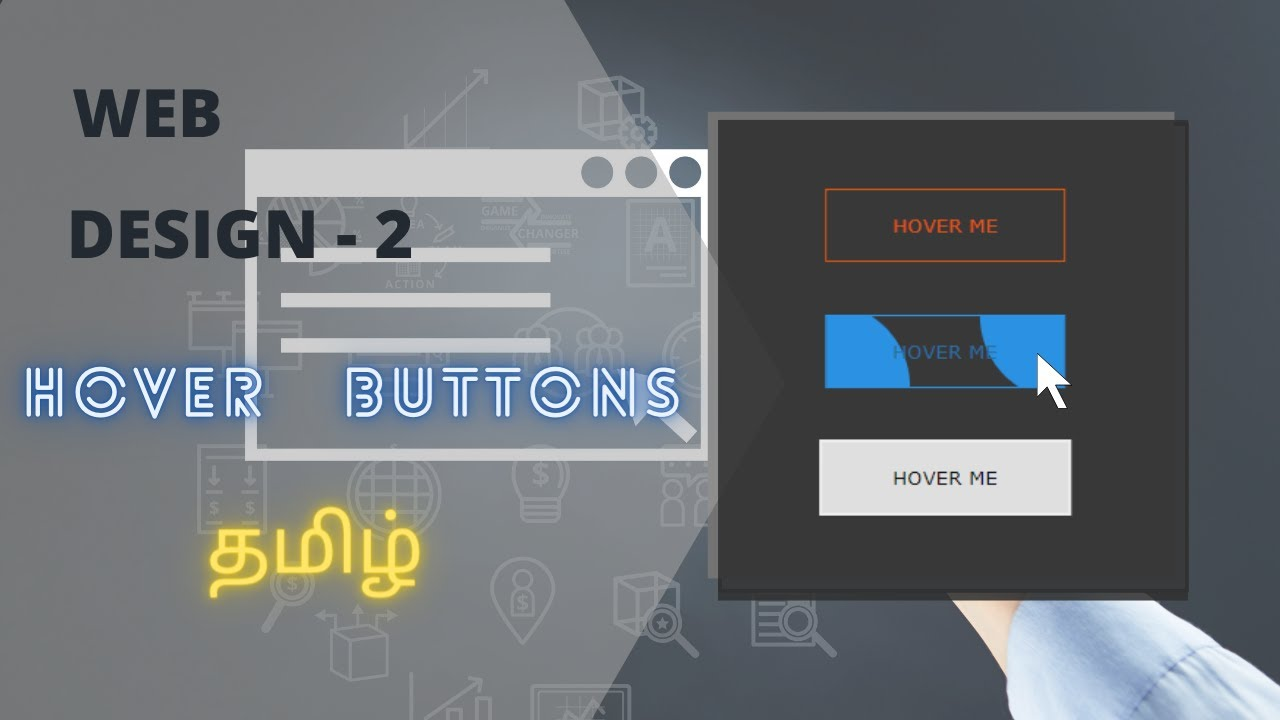 HOVER BUTTONS USING HTML AND CSS - WEB DESIGN - CS TRICKS